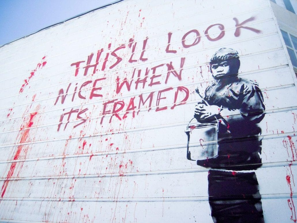 Banksy_street_art_this_will_look_nice_when_its_framed_Child