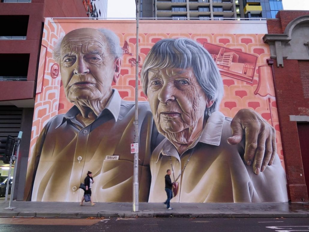 Smug_Street_art_elderly_couple_on_wall_piece_